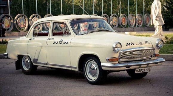 Минск в 1960: такси Волга (ГАЗ-21)